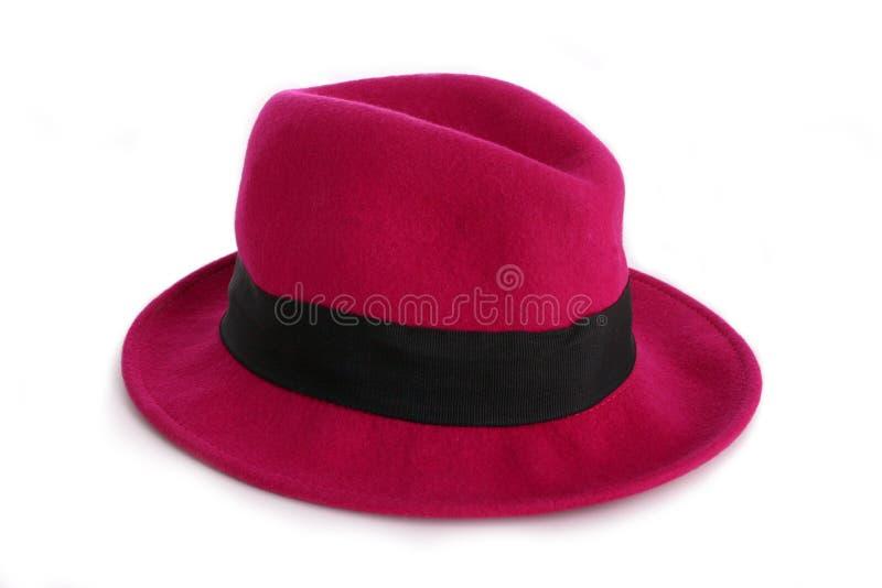 Rosafarbener Hut stockfoto