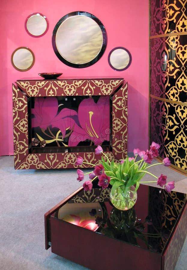 Rosafarbener Innenraum stockfoto