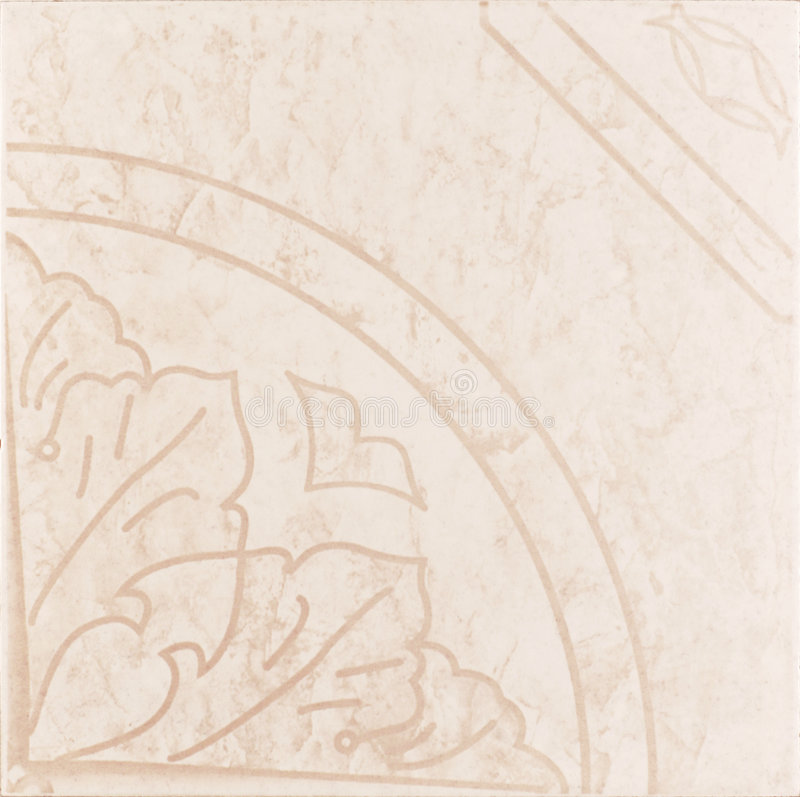 Rosafarbener Keramikziegel stockfoto
