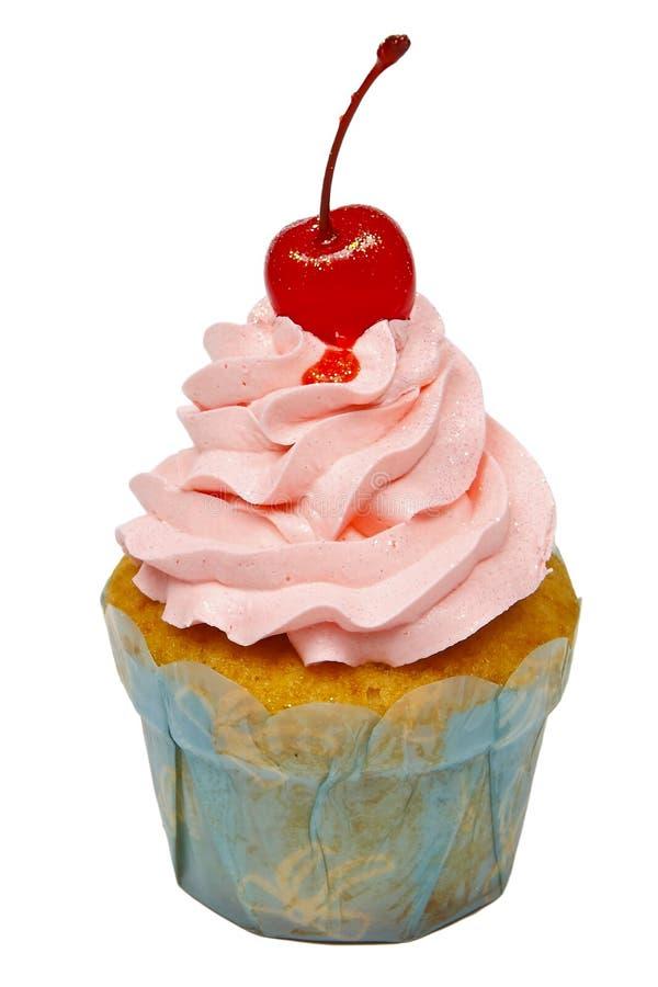 Rosafarbener kleiner Kuchen stockfotos