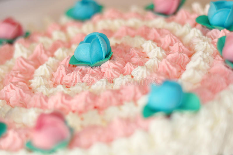 Rosafarbener Kuchen stockbild