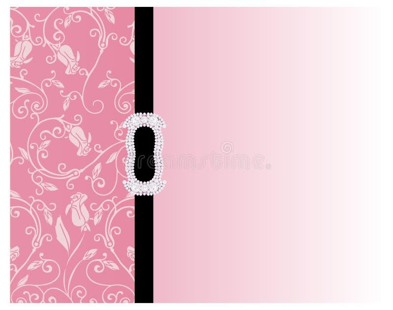 Rosafarbener mit Blumenhintergrund lizenzfreie abbildung