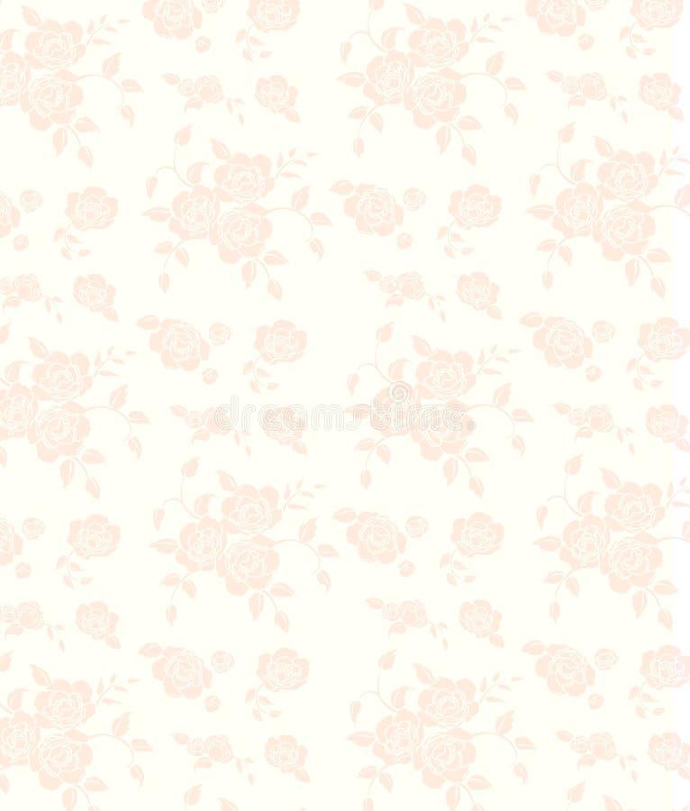 Rosafarbener nahtloser Blumenhintergrund vektor abbildung