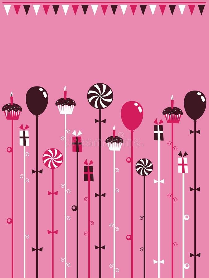 Rosafarbener Partyhintergrund vektor abbildung