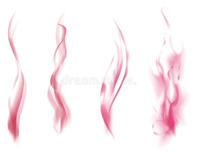 Rosafarbener Rauch stock abbildung