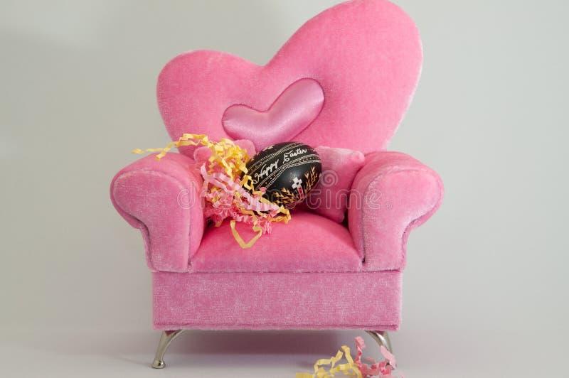 Rosafarbener Sessel stockfoto