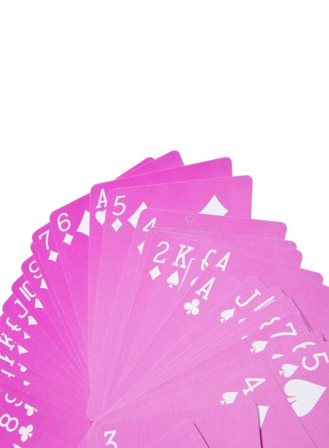 Rosafarbener Spielkarte-Rand lizenzfreie stockbilder
