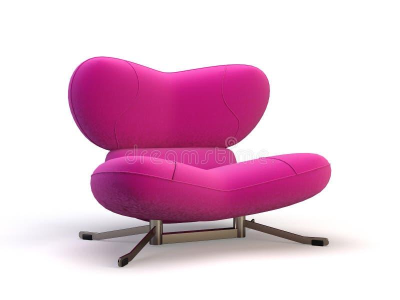 Rosafarbener Stuhl lizenzfreie abbildung