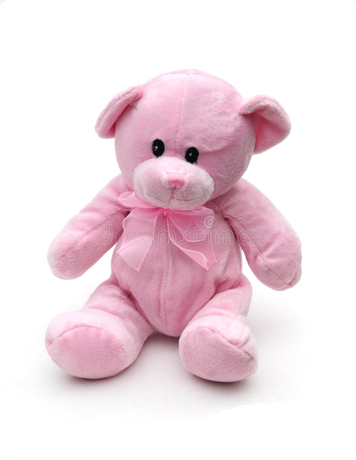 Rosafarbener Teddybär stockbilder