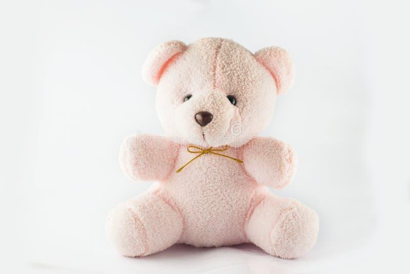 Rosafarbener Teddybär stockfotos