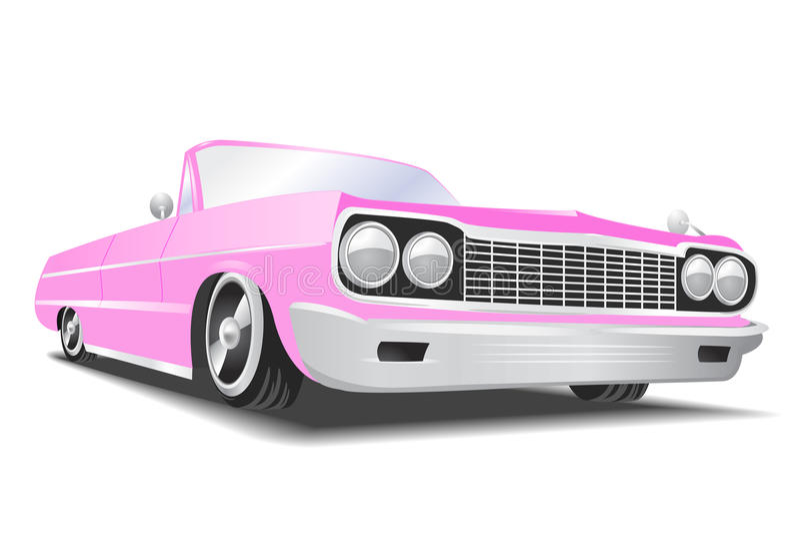 Rosafarbener Vektor Cadillac vektor abbildung