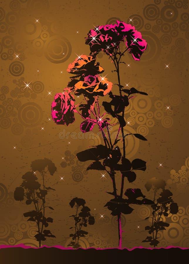 Rosafarbener Vektor stieg stock abbildung