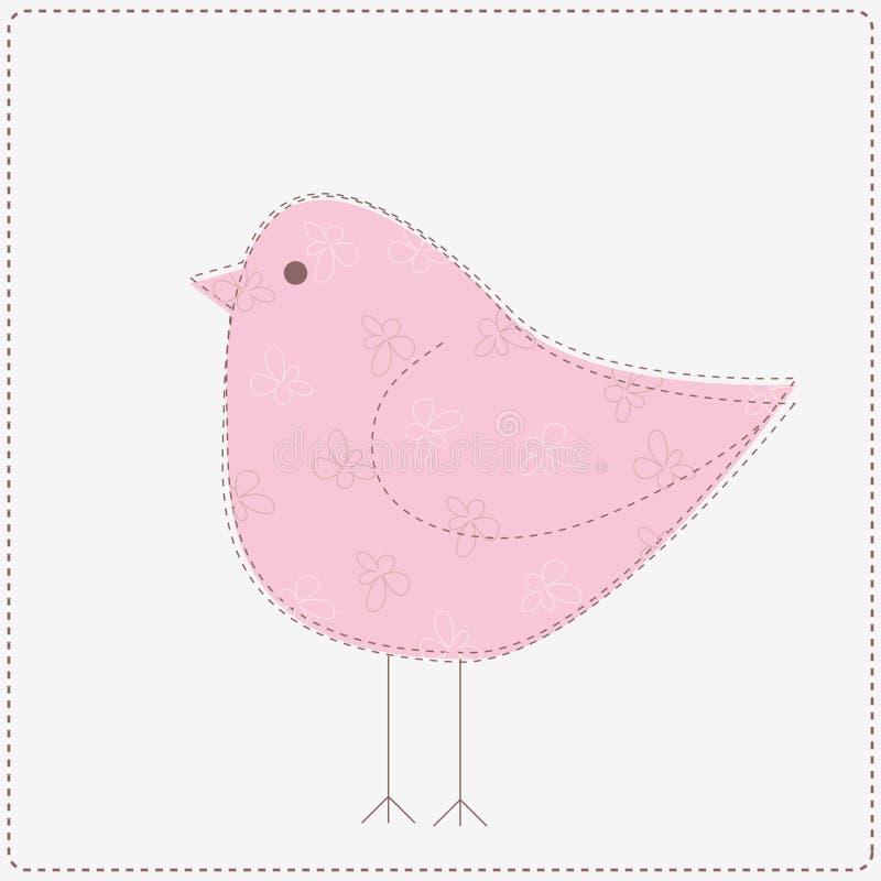 Rosafarbener Vogel vektor abbildung