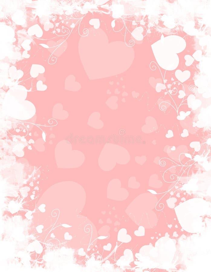 Rosafarbener weißer Inner-Hintergrund stock abbildung