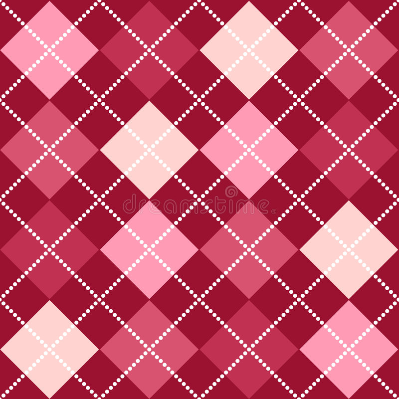 Rosafarbenes Argyle Muster vektor abbildung