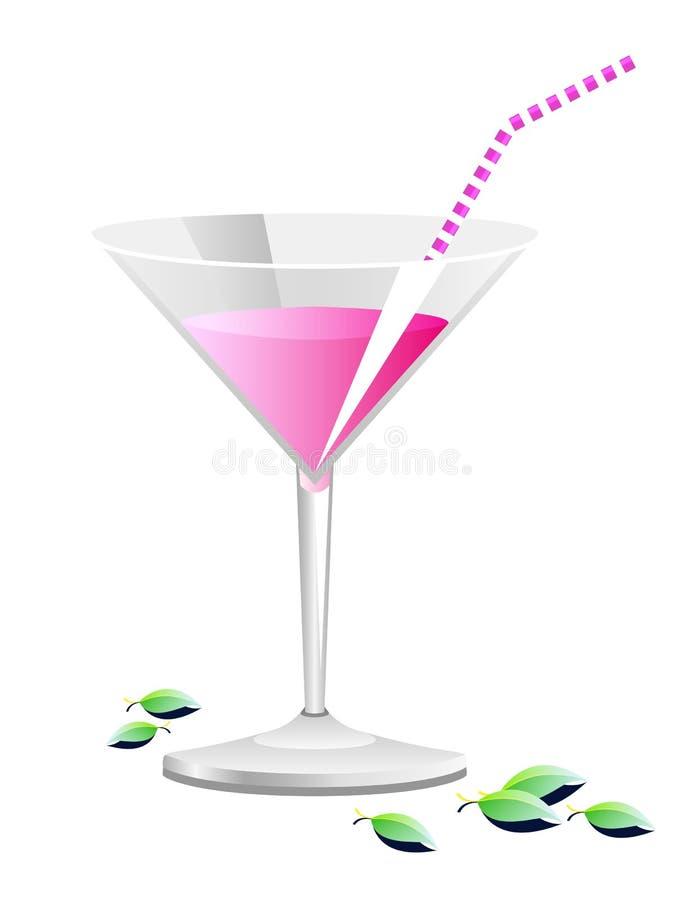 Rosafarbenes Cocktail vektor abbildung