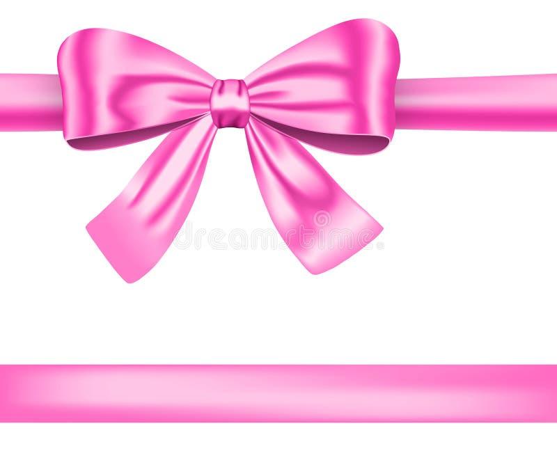 Rosafarbenes Farbband stock abbildung