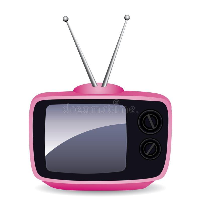 Rosafarbenes Fernsehen lizenzfreie abbildung