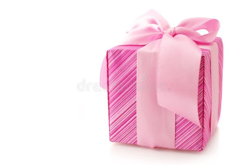 Rosafarbenes Geschenk lizenzfreie stockfotos