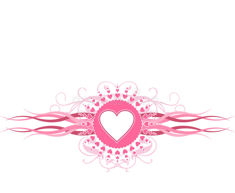 Rosafarbenes Inner-Muster stock abbildung