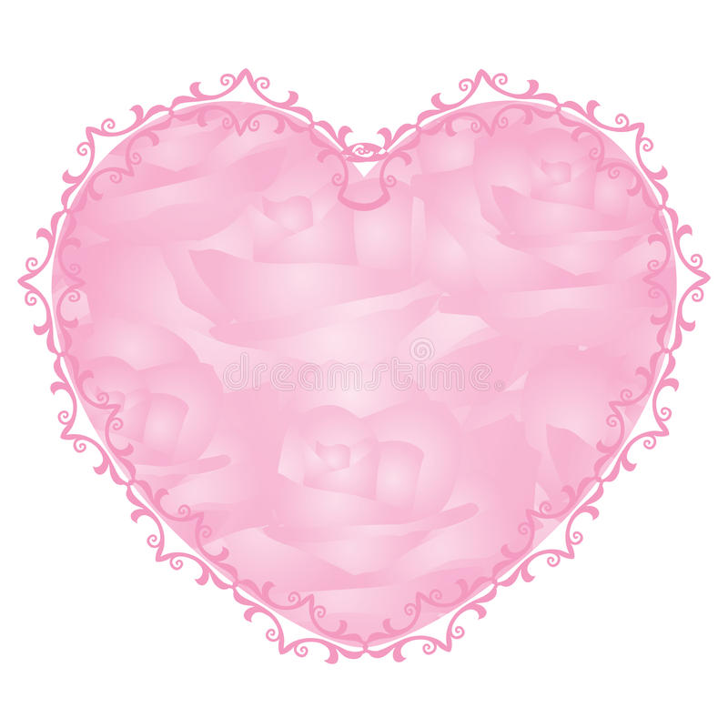Rosafarbenes Inneres vektor abbildung