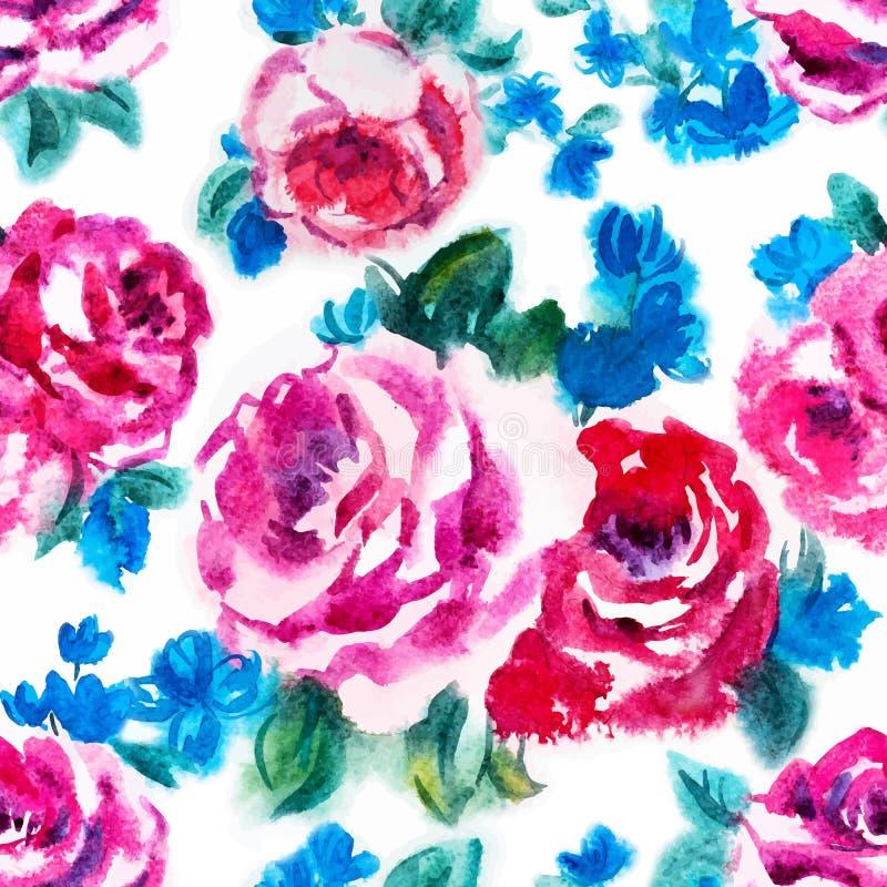 Rosafarbenes Muster des Aquarells lizenzfreie abbildung