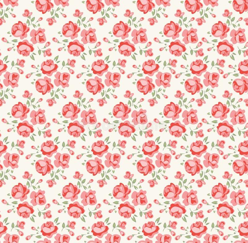Rosafarbenes Muster des schäbigen Chic lizenzfreie abbildung