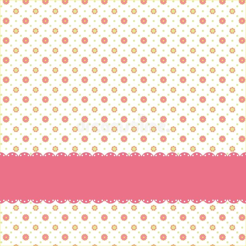 Rosafarbenes nahtloses Muster des Blumenpolkapunktes vektor abbildung
