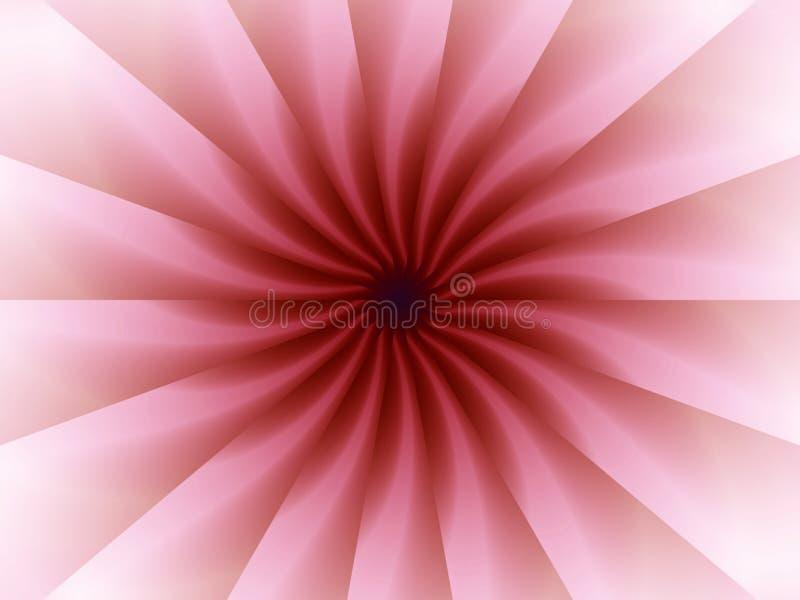 Rosafarbenes Origami faltet Muster lizenzfreie abbildung