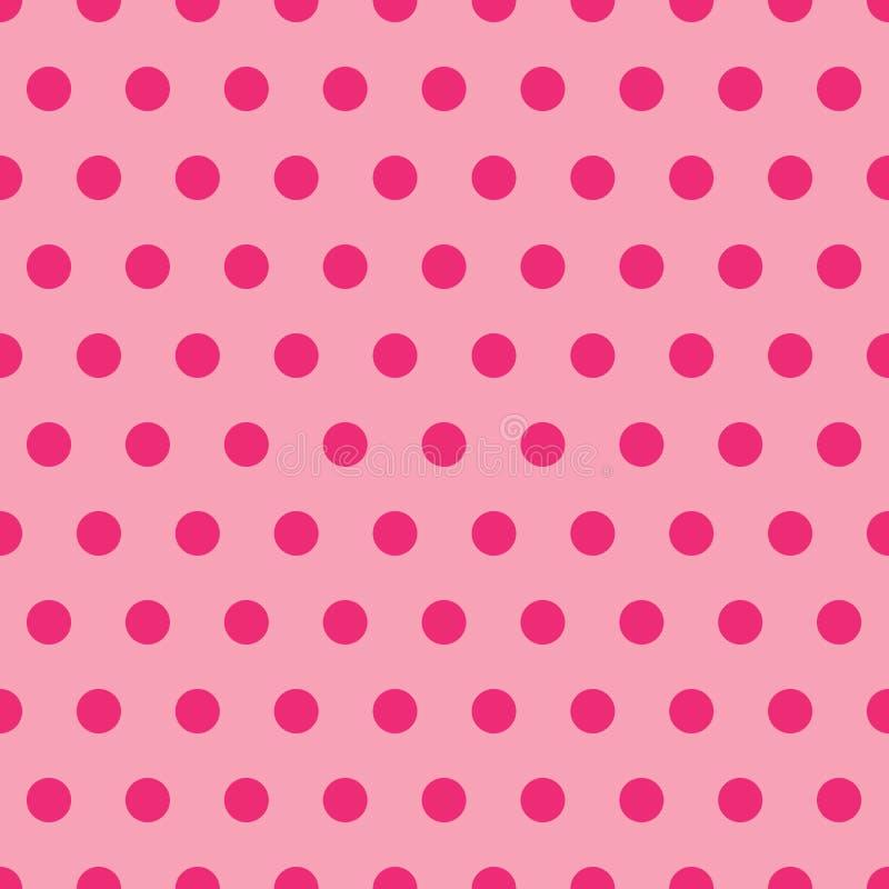 Rosafarbenes Polka-Punkt-Muster stock abbildung