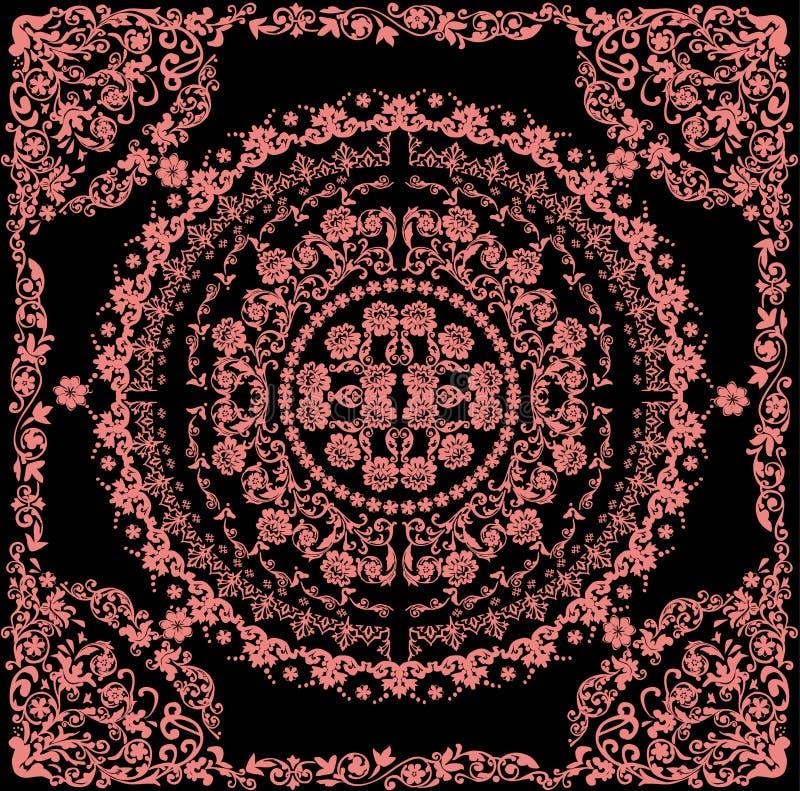 Rosafarbenes rundes Muster im Feld stock abbildung