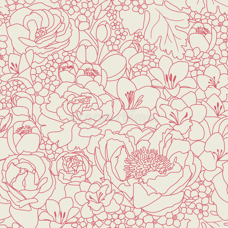Rosafarbenes seanless Muster stock abbildung