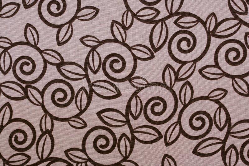 Rosafarbenes Strudelblatt-Gewebemuster stock abbildung
