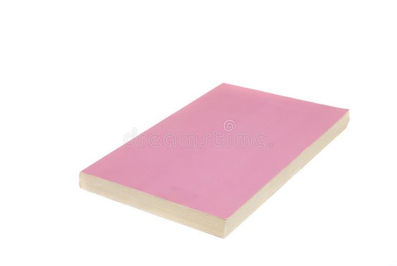 Rosafarbenes Taschenbuch-Buch lizenzfreie stockfotos