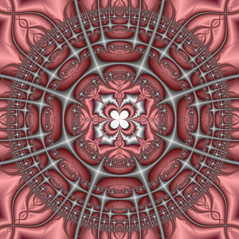 Rosafarbenes und graues Kaleidoskop vektor abbildung