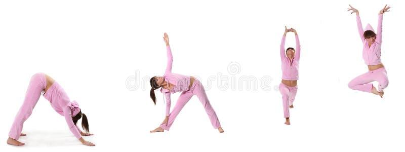 Rosafarbenes Yoga stockbild