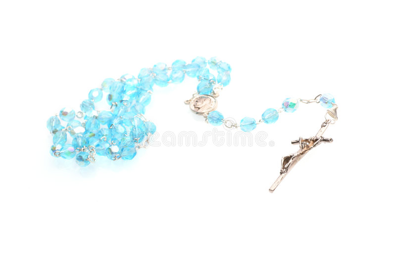 Rosaire bleu image stock