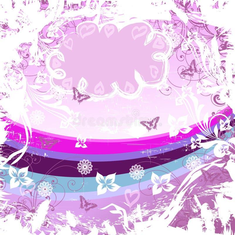 RosaKarte ilustração royalty free