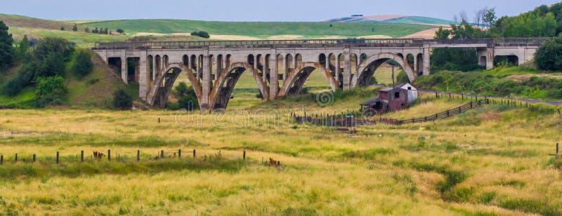 Rosalia铁路桥梁 库存照片