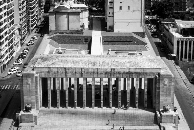Rosario, Аргентина триумфальное Propylaeum национального флага мемориального Monumento Nacional Ла Bandera - Rosario, Санта-Фе стоковое фото
