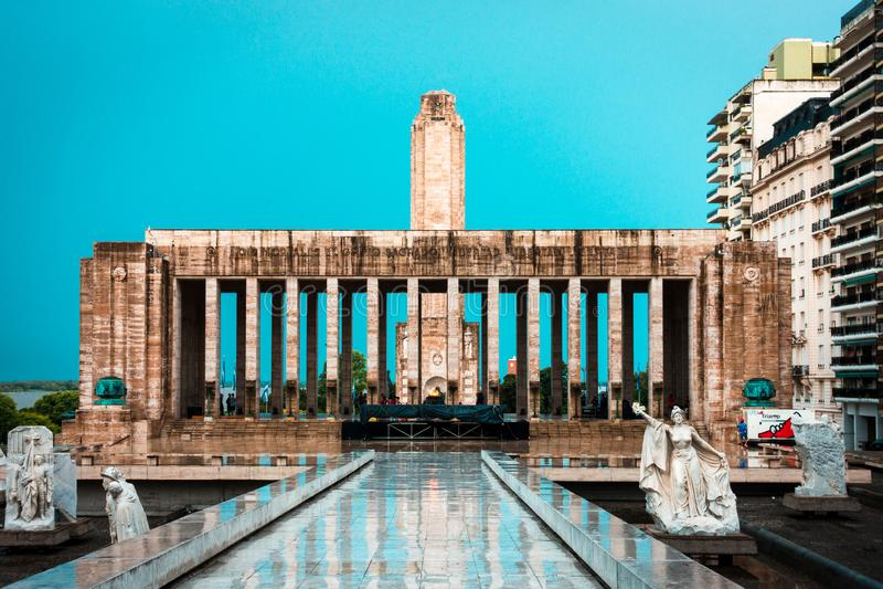 Rosario Argentina Monumento en monument för laBandera flagga i rosario arkivfoto