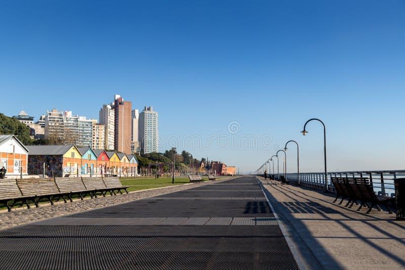 Rosario, Argentine Parc côtier à côté du fleuve Parana photos libres de droits