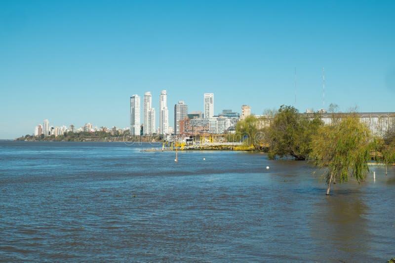 Rosario. On the bank of Parana river, Argentina royalty free stock photography