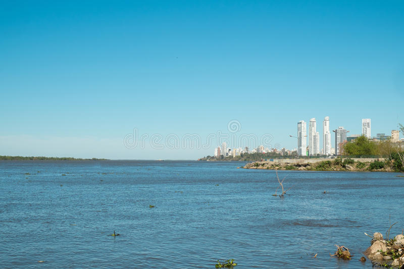 Rosario. On the bank of Parana river, Argentina royalty free stock photos