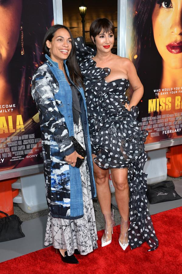 Rosario Dawson & Jackie Cruz stock afbeelding