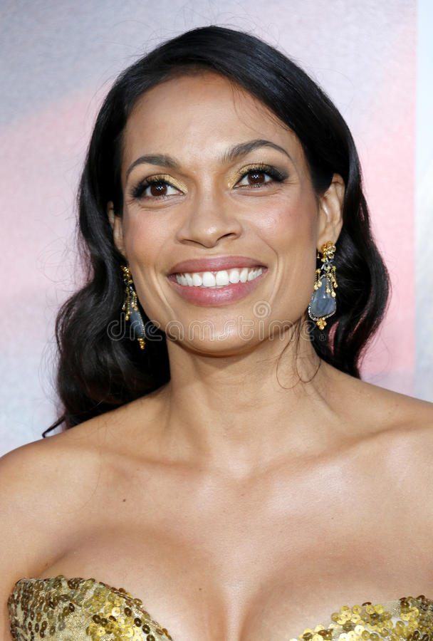 Rosario Dawson. At the Los Angeles premiere of `Unforgettable` held at the TCL Chinese Theatre in Hollywood, USA on April 18, 2017 royalty free stock image