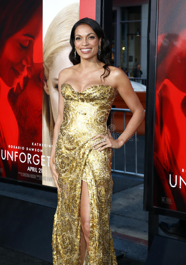 Rosario Dawson. At the Los Angeles premiere of `Unforgettable` held at the TCL Chinese Theatre in Hollywood, USA on April 18, 2017 royalty free stock images