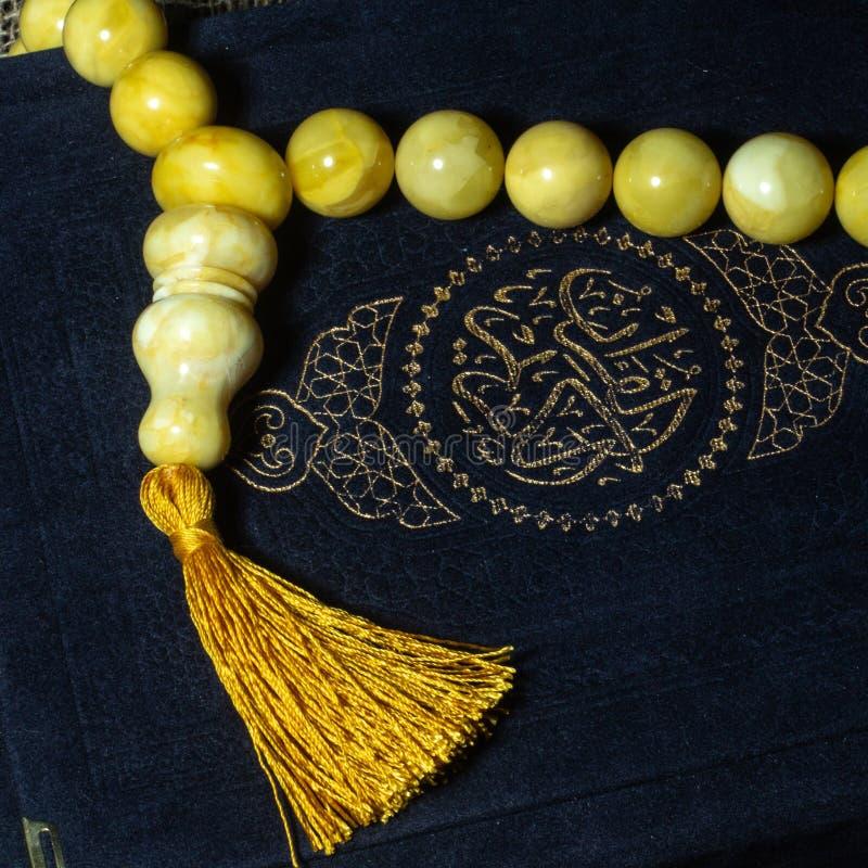 Rosario nel Corano fotografie stock