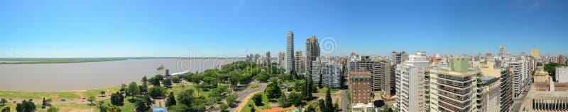 Rosario. A nice panorama shot capturing the city of Rosario, Argentina stock photos