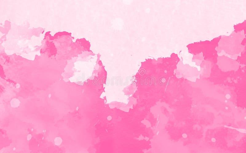Rosarosen-Aquarellhintergrund lizenzfreies stockfoto